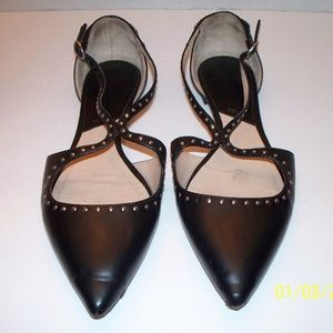 MNG studed Black Flats Sandals US 8.5 / EU 39
